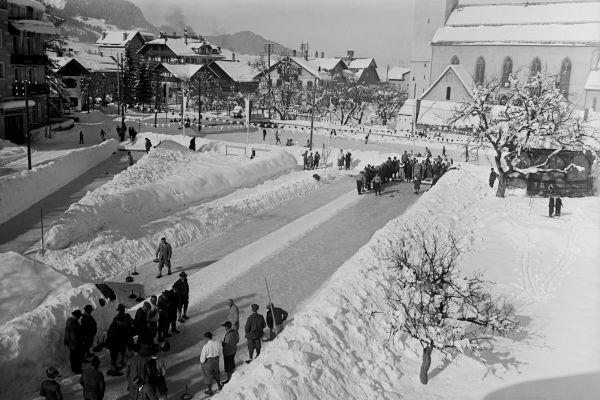 Eisschießbahnen am Kurplatz Oberstdorf