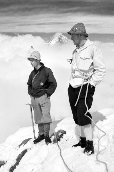 Bergsteiger im Schnee