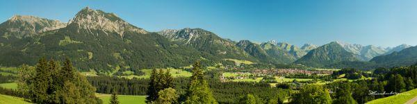 Panorama Oberstdorf vom Jägersberg