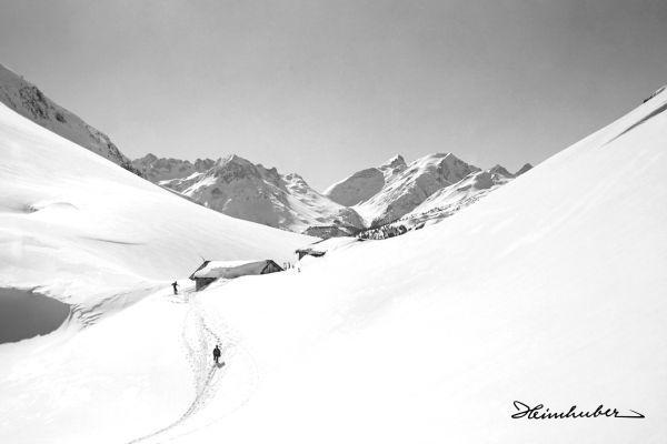 Lechleitner Alpe mit Tourengeher