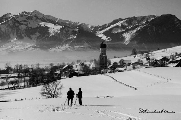 Skitausflug bei Rettenberg