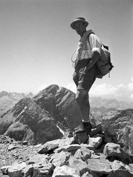 Bergsteiger vor Krottenkopf
