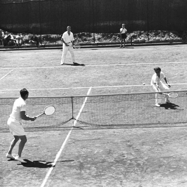 Tennispartie in Oberstdorf