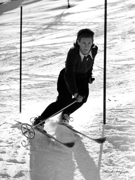 Skiläuferin Christl Cranz