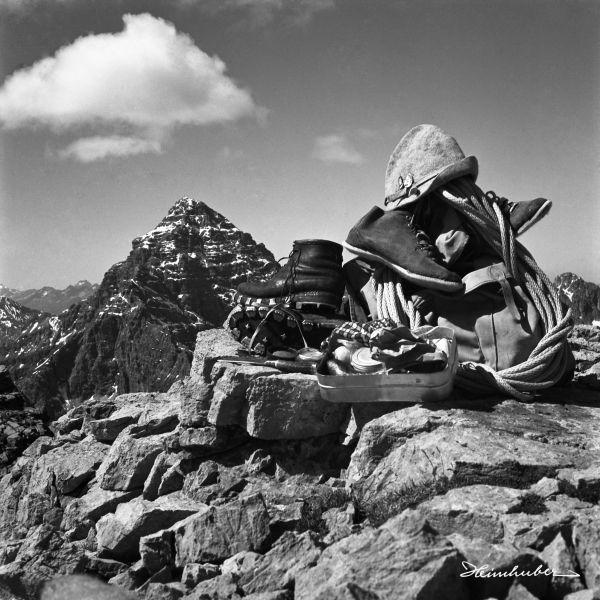Bergsteigerausrüstung
