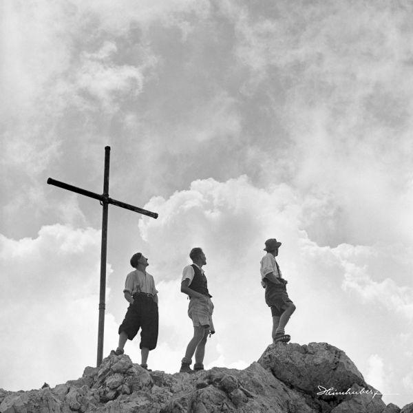 Drei am Gipfel