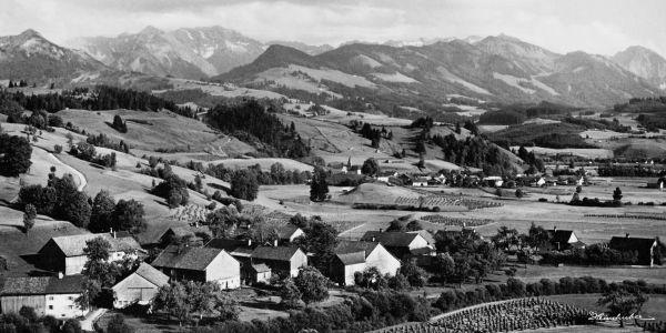 Winkel und Berghofen mit Sonnenköpfen