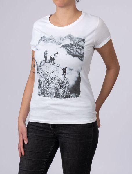 Damen T-Shirt Auf dem Gipfel der Trettach