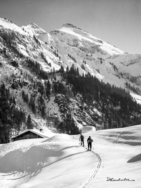 Skitourengänger mit Linkerskopf