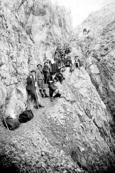 Bergsteiger am Heilbronner Weg