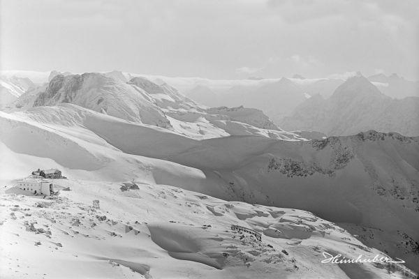 Nebelhornbahn im Winter 1931