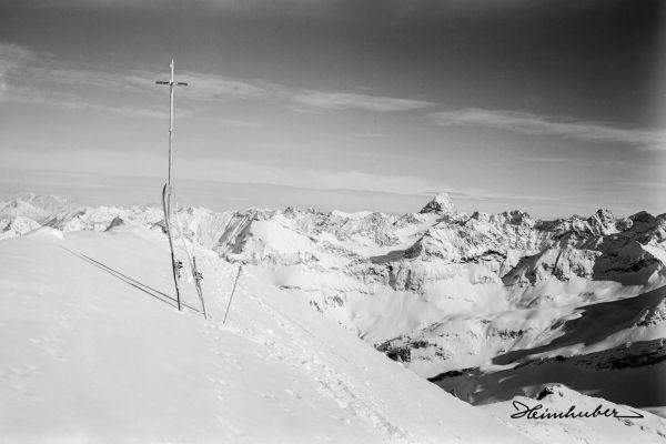 Nebelhorn Gipfel Winter 1920