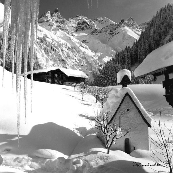 Kapelle Einödsbach im Winter