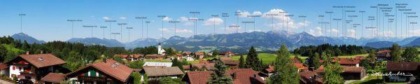 Panorama von Ofterschwang
