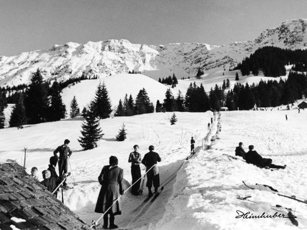 Skifahrer am Gebhard Lift