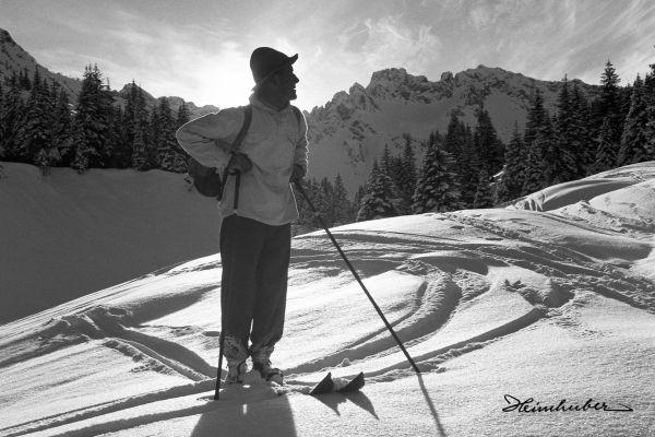 Skifahrer im Wildental