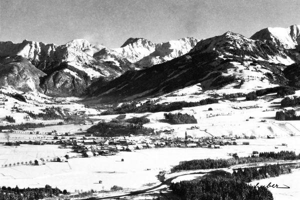 Sonthofen im Winter - Anfang 20. Jahrhundert