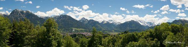 Bergpanorama mit Oberstdorf