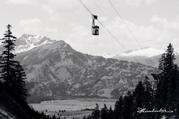 Gondel der Nebelhornbahn