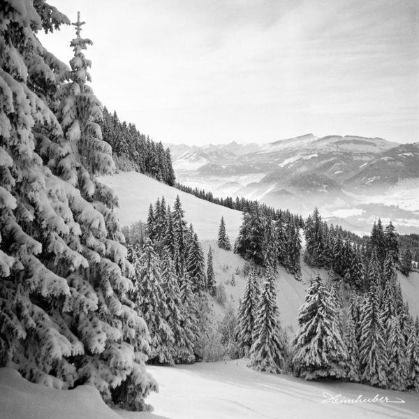 Winterlicher Blick zum hohen Ifen