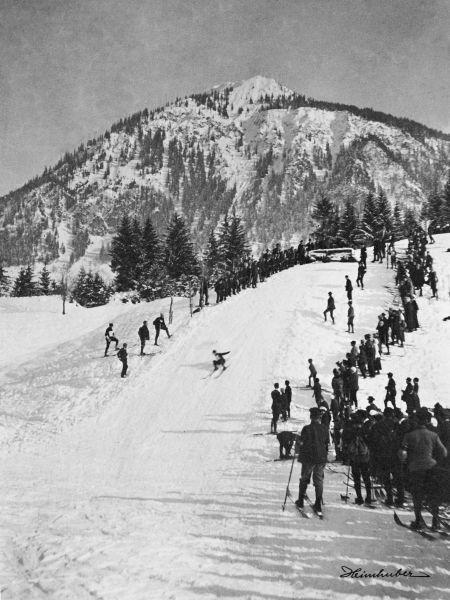 Skispringen an der Halde