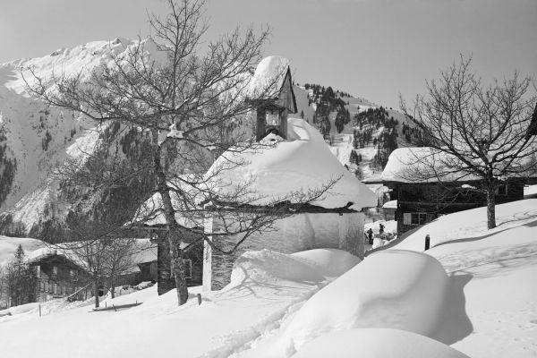 Gerstruben Kapelle im Winter