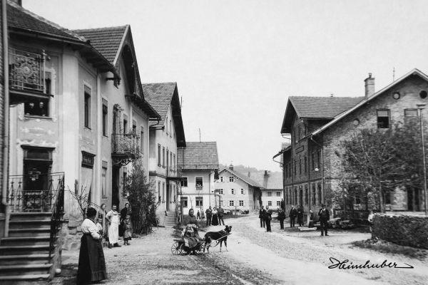 Straße in Wertach