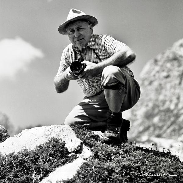 Fritz Heimhuber mit Hasselblad