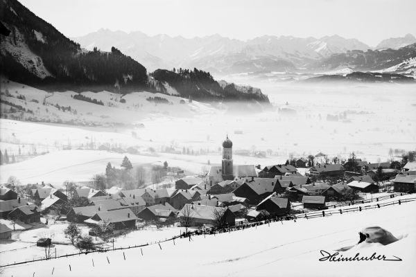 Rettenberg mit Blick auf Allgäuer Hauptkamm