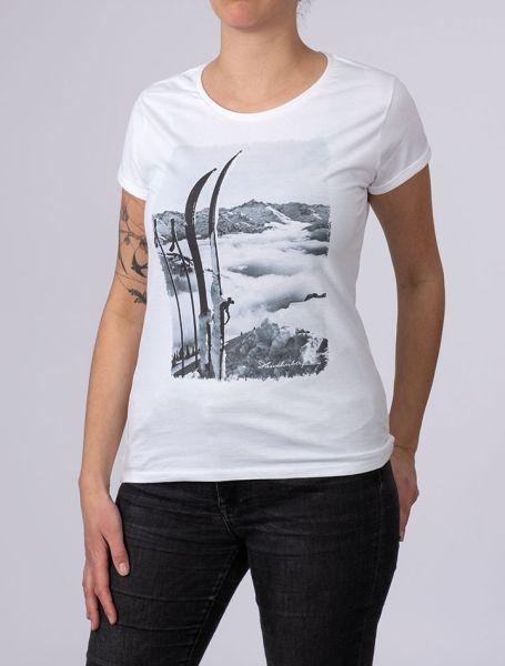 Damen T-Shirt Blick zum Hochvogel