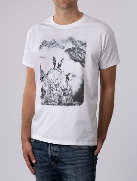 Herren T-Shirt Auf dem Gipfel der Trettach