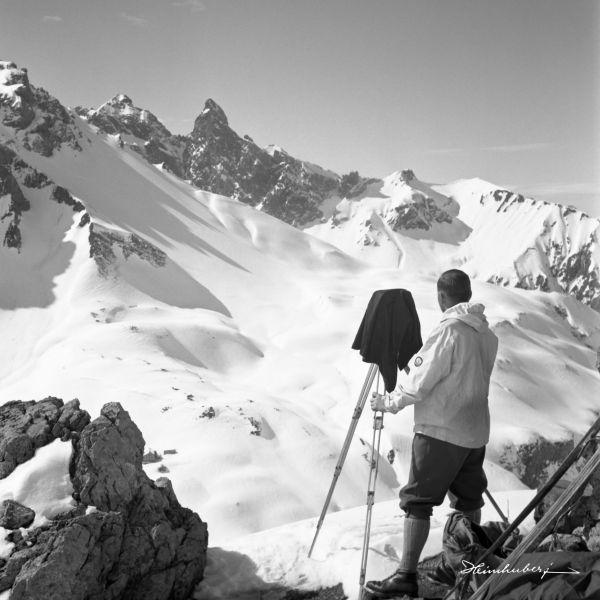 Fritz Heimhuber jun. mit Plattenkamera
