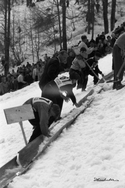Präparierung der Skiflugschanze