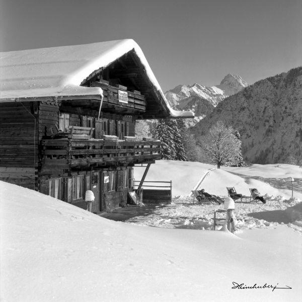 Berggasthof Hochleite im Winter