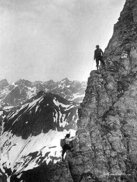 Kletterer an der Höfats