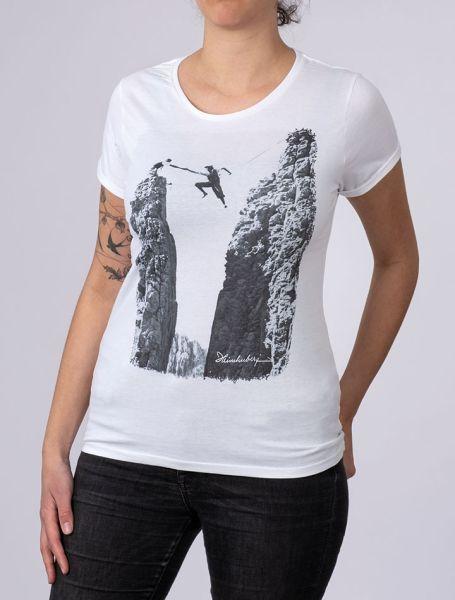 Damen T-Shirt Seilquergang