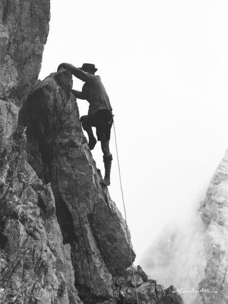 Kletterer an der Trettach