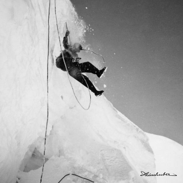 Abseilen am Eisbruch