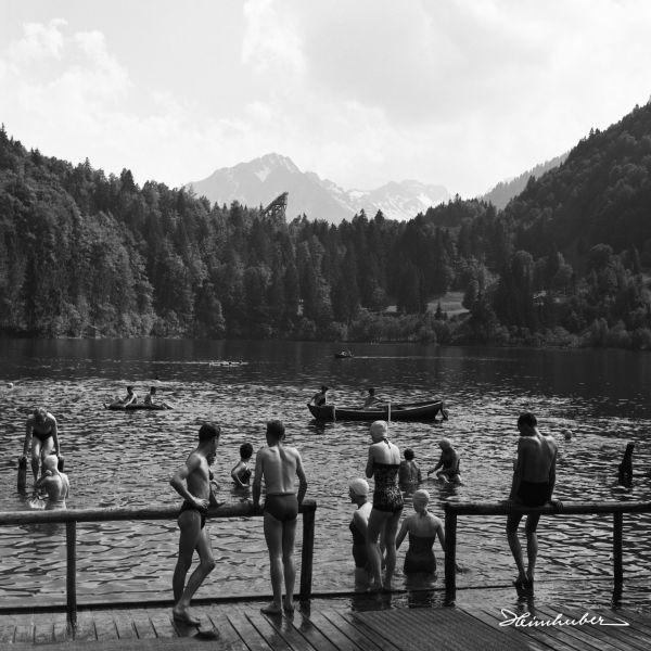Badespaß am Freibergsee 1959