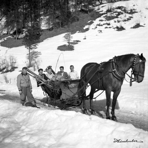 Mit dem Pferdeschlitten nach Einödsbach