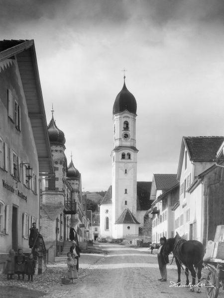 Straßenpartie in Nesselwang
