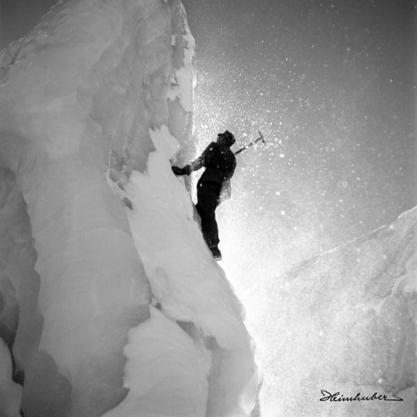 Eiskletterer an der Wildspitze