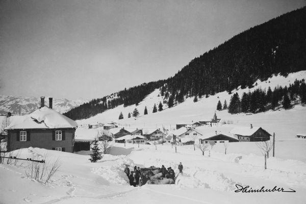 Zollhaus Oberjoch im Winter