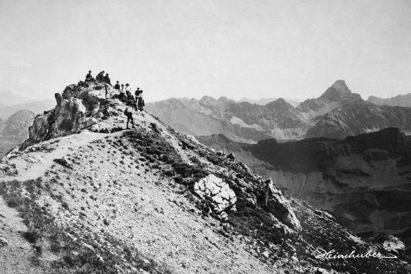 Am Nebelhorngipfel