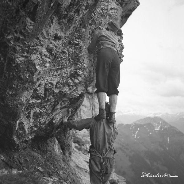 Bergsteiger an der Roten Flüh