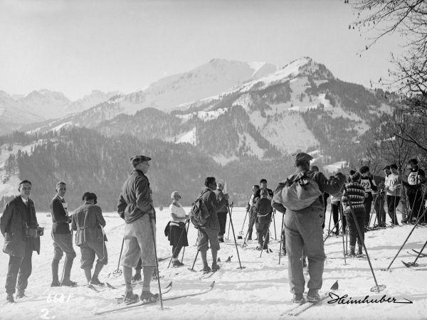 Ski Wettlauf