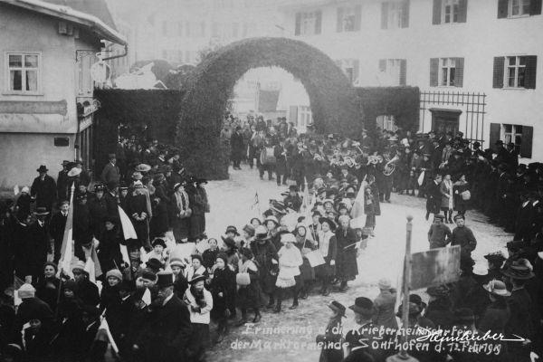 Kriegerheimkehrfeier 1919