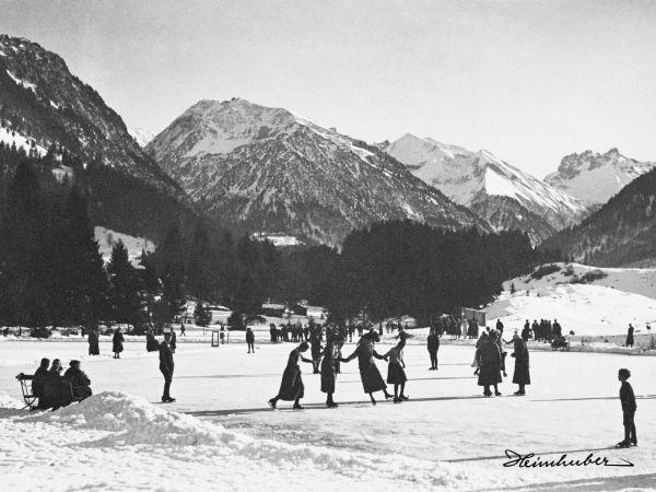 Eislaufen am Moorweiher