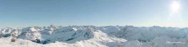 Winterpanorama vom Nebelhorn