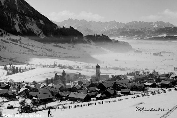 Rettenberg mit Allgäuer Alpen